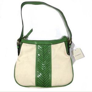 Liz Claiborne Purse Canvas Shoulder Bag Classic